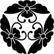 三つ寄せ花菱蝶